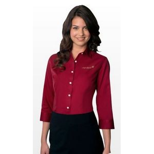 Women's Van Heusen Easy-Care Dress Twill Long Sleeve Shirt